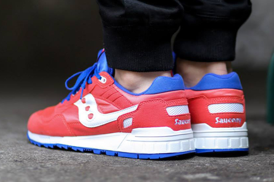 saucony shadow 5000 cream red