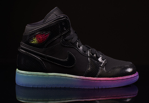 air jordan 1 retro high gg rainbow sole puma