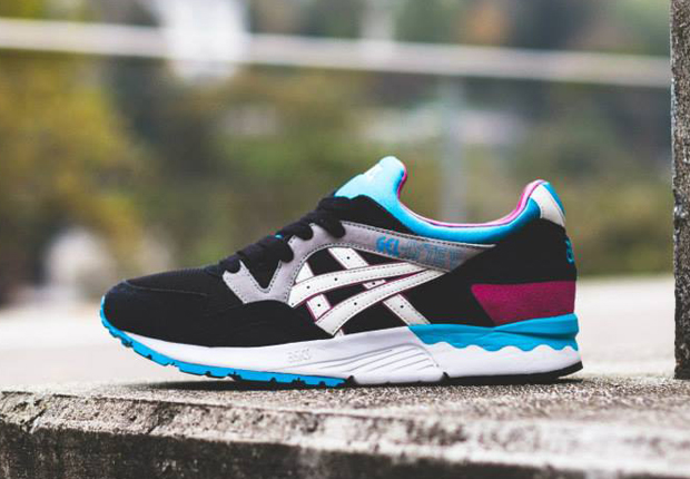 best website 5fbfc 38ac3 Asics Gel Lyte V – Black – Sky Blue – Fuchsia