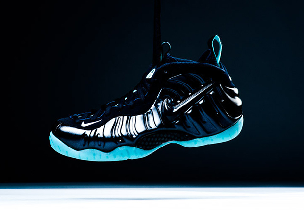 Hot Sale Online Nike Air Foamposite Pro Dark Obsidian Light Aqua