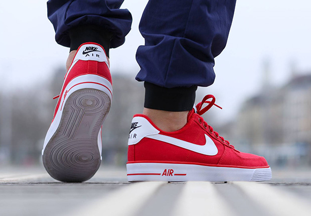 Nike Air Force 1 Ac University Red White Sneakernewscom