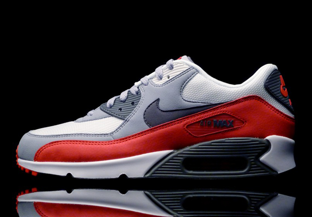 Activo Marty Fielding cambiar  Nike Air Max 90 Essential - Wolf Grey - Challenge Red - SneakerNews.com