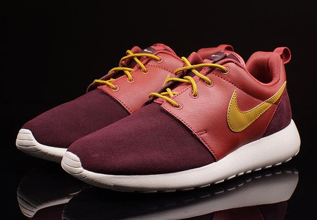 26a950d47c90 Nike Roshe Run - Cedar - Bronzine - Deep Burgundy - SneakerNews.com
