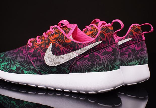 Nike Roshe Run GS Hot Pink Menta Total Orange