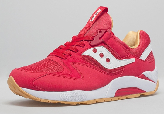 Saucony Grid 9000 – Red – Yellow – Gum