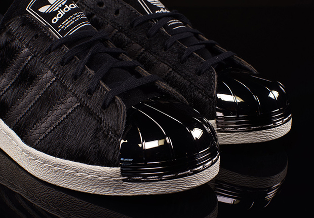 80s Para Mujer Adidas Superstar Puntera Metálica Negro / Negro tdqW3kOOZF
