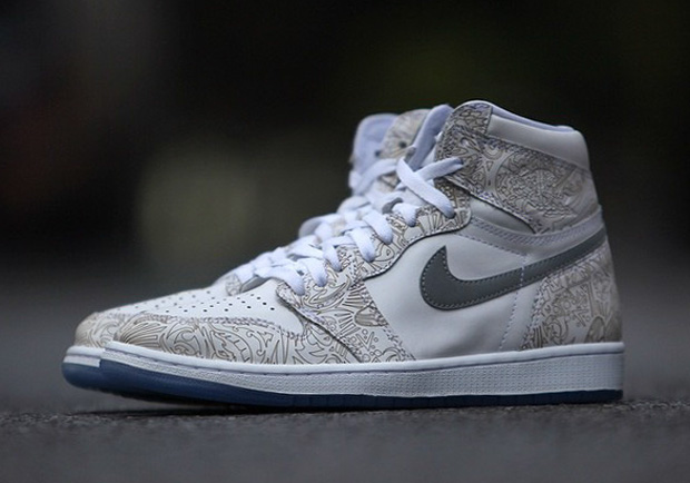 "8409520b8b3 Air Jordan 1 Retro High OG ""Laser"" Color  White Metallic Silver-White Style  Code  705289-100. Release Date  02 08 15. Price   190"