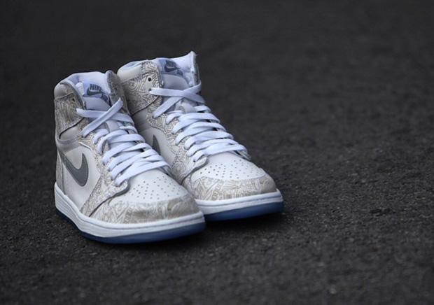 "d032e2f1388d8 Air Jordan 1 Retro High OG ""Laser"" Color  White Metallic Silver-White Style  Code  705289-100. Release Date  02 08 15. Price   190"