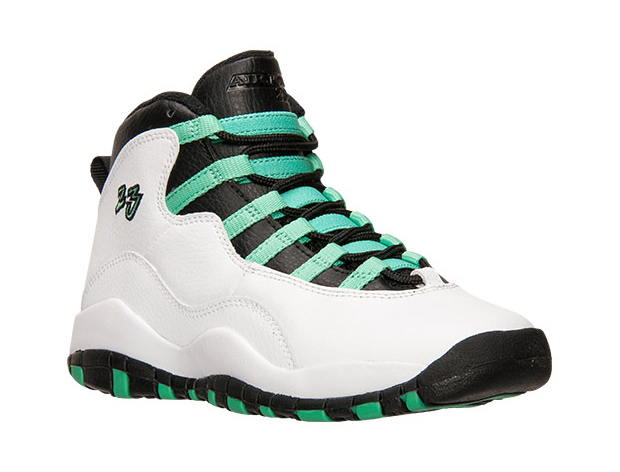 Air Jordan 10 Retro GG Color: White/Verde-Black-Infrared 23. Style Code:  705180-118. Release Date: March 28th, 2015. Price: $140