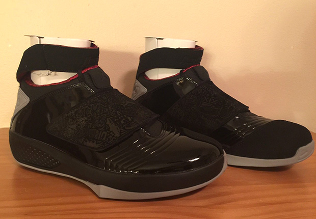 """15f7703a41c4 You can also secure your pair now via eBay. Air Jordan 20 Retro """"Stealth""""  Color  Black Stealth-Varsity Red Style Code  310455-002. Release Date   3 14 15"""