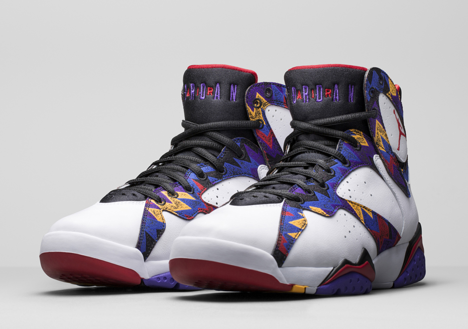 huge selection of 4fe81 ae35c ... retro 7 white blue purple black 492a1 9aa51  reduced jordan brand  recalls mjs sweater print for this air jordan 7 sneakernews f886a 1ad28