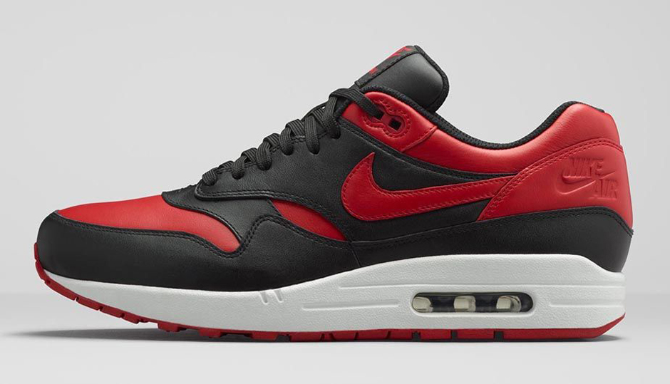 Nike Air Max 1 Premium Color BlackWhiteVarsity Red Style Code  665873061 Release Date February 9th 2015