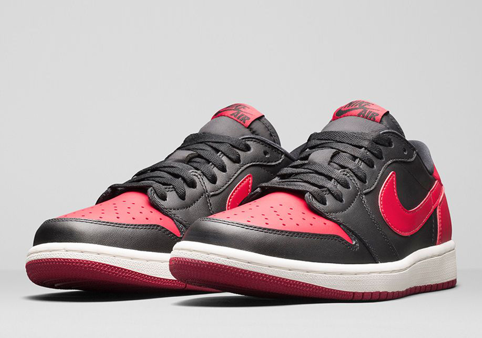 "new style da8bc f0742 Air Jordan 1 Retro Low OG ""Bred"" – Nikestore Release Info"