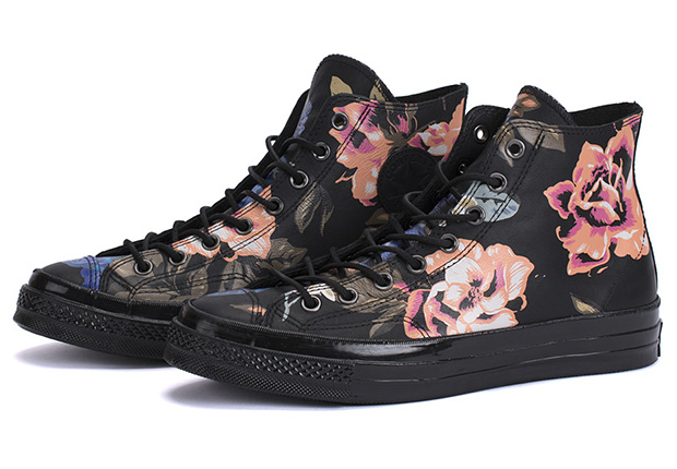 "Converse Chuck Taylor 1970s ""Black Leather Floral"""
