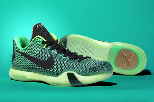 """online retailer ddd39 20235 Nike Kobe 10 """"Vino"""" Color  Poison Green Sequoia-Squadron Green-Volt Style  Code  705317-333. Release Date  March 5th, 2015. Price   180. Advertisement"""