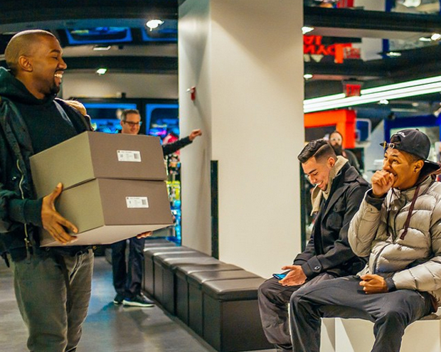 Yeezy Boost Hand-Delivered by Kanye West | SneakerNews.com