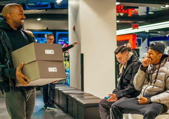 Kanye West Hand-Delivers Yeezy Boosts at adidas Performance Store