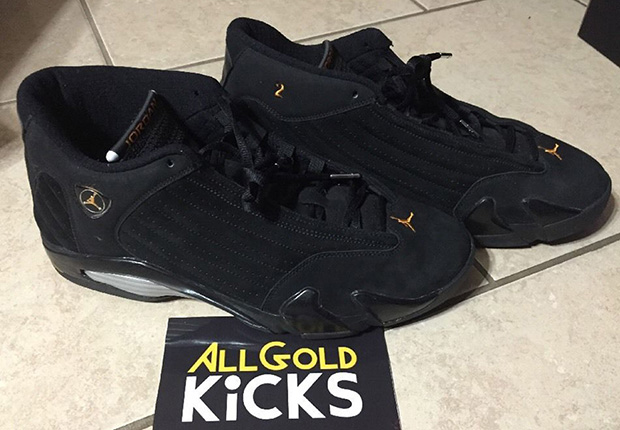 all black jordan 14