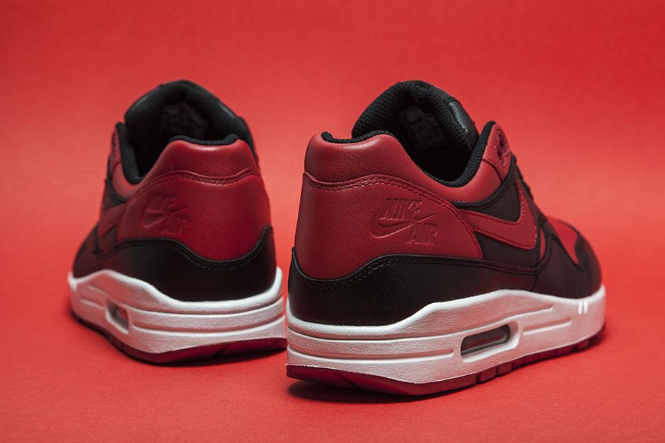 """88e7fb4e4da Nike Air Max 1 PRM """"Bred"""" Color: Black/Varsity Red-White Style Code: 655873- 061. Release Date: 02/09/15. Price: $130"""