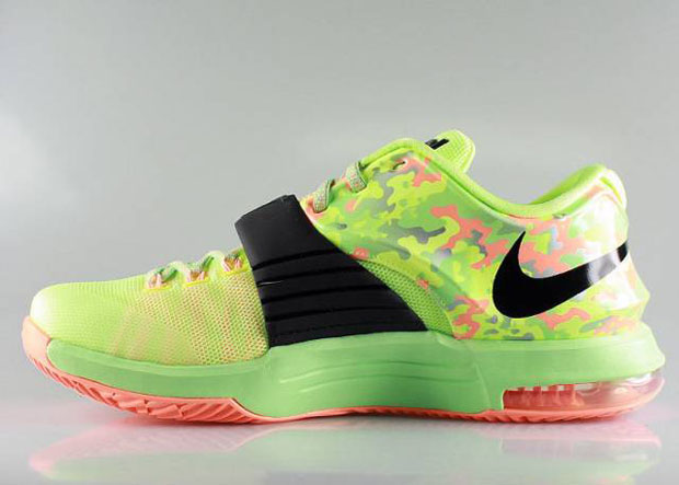 """173c7522013c Nike KD 7 """"Easter"""" Color  Metallic Pewter Flash Lime-Anthracite-Lyon Style  Code  653996-030. Release Date  03 19 15. Price  TBD"""