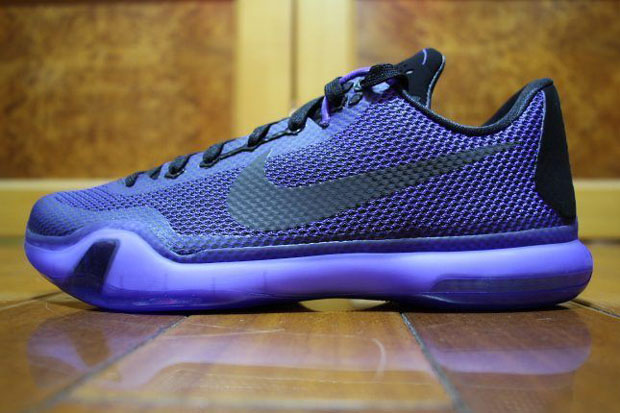 "Nike Kobe 10 ""Blackout"" Color: Black/Black-Persian Violet Style Code:  745334-005. Release Date: 02/21/15. Price: $180"