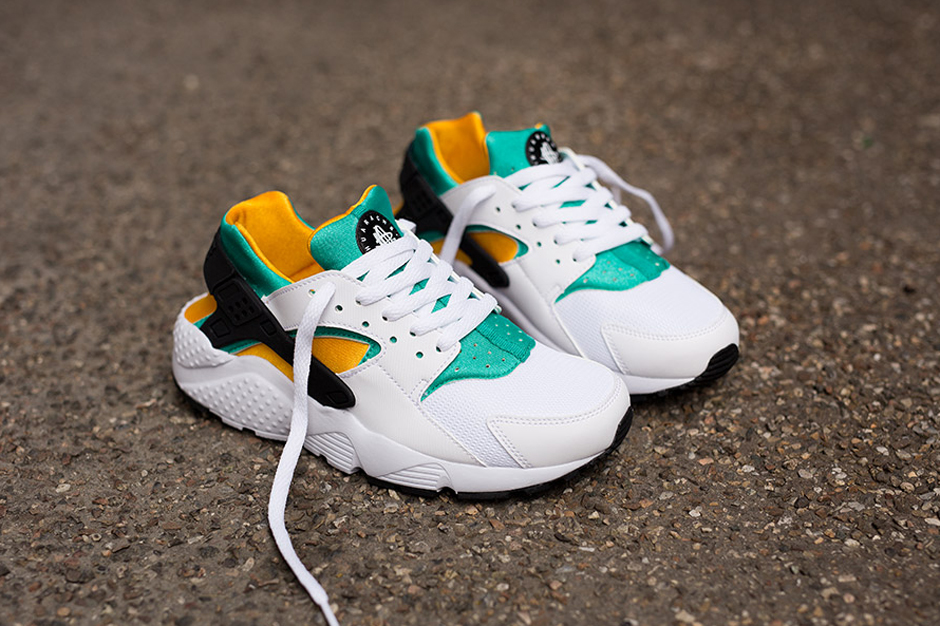 on sale ed86a a8e85 germany nike huarache run gs white green orange 3ba61 6496c  reduced nike  releases an og huarache colorway in gs sizes sneakernews 52696 230bb