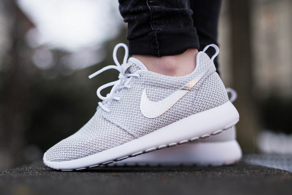 Beautiful  Grey Peach Nike Roshe Run Womens Shoes  Nike Roshe Buy Online