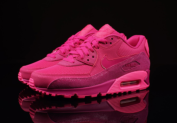 hot pink nike air max 90 womens