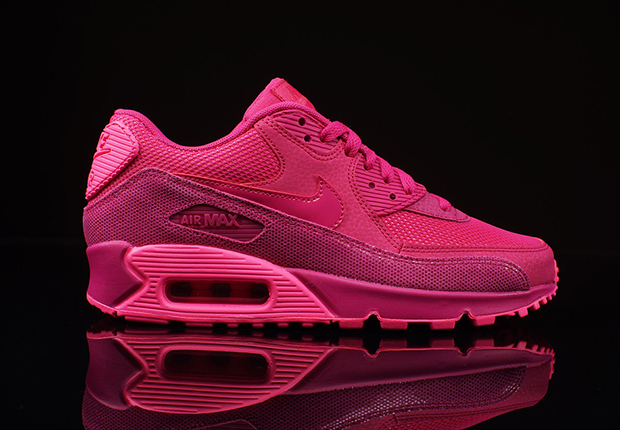 womens nike air max 90 premium running shoes pink
