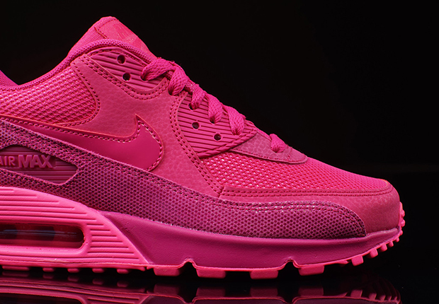 3670cd00dafd ... and is then accented with Pink Pow for a very vibrant and very stylish  edition of the Air Max 90. Pairs are headed into select Nike Sportswear  suppliers ...