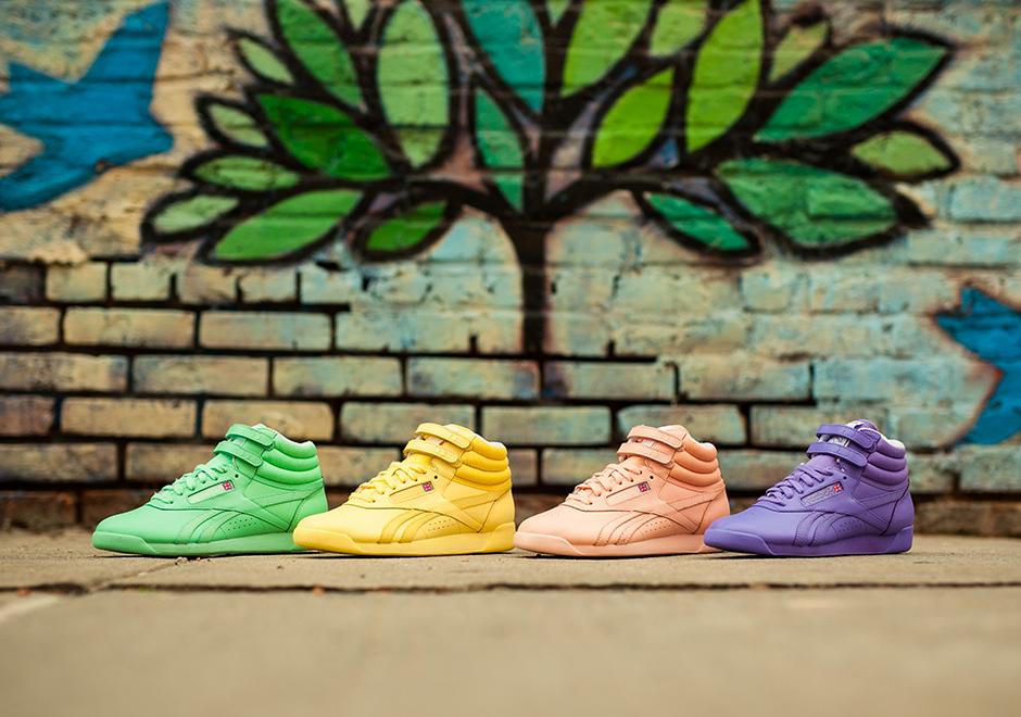 Reebok Freestyle Hi Spirit Mint Green Sneakers   Reebok
