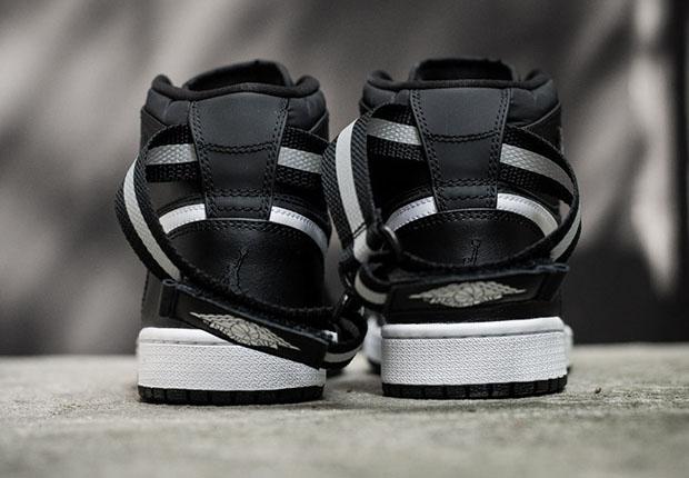 Air Jordan 1 Haute Bracelet Blanc Noir