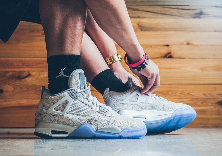 9a8f985db86def An On-Foot Look at the Air Jordan 4 Laser - SneakerNews.com