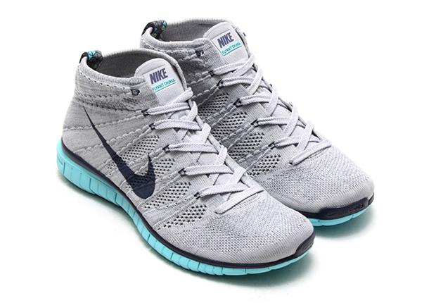 4bc5bb207879 Nike Free Flyknit Chukka - Wolf Grey - Midnight Navy - Light Aqua ...