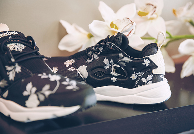 "5968afd3a7d The Reebok Furylite ""Roses"" pack drops this month at select Reebok Classic  retailers globally."