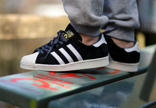 adidas Originals Superstar 80s Suede Black White 80%OFF - cculb.coop 3c4595e7b