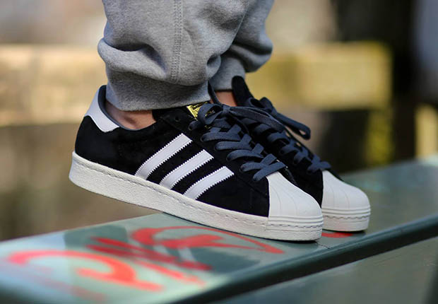 af1fa7d0dd4f adidas Originals Superstar 80s Suede Black White 80%OFF - cculb.coop
