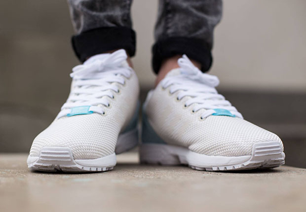 detailed look dc31a 997b0 adidas Originals ZX Flux Weave - Off White - Blush Blue ...