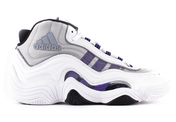 "The adidas Crazy 2 goes back ""home"" to an original colorway with this  white-based pair originally worn by Kobe Bryant during home games in 1999."