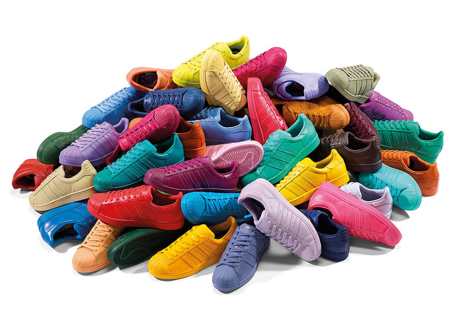new colourful adidas trainers