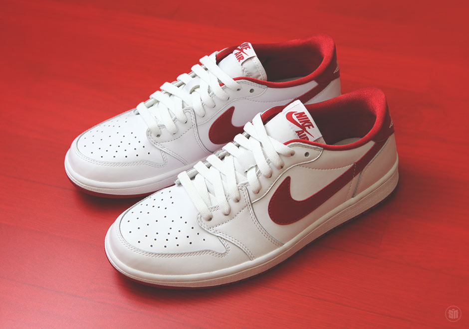 air jordan 1 retro low og white and red
