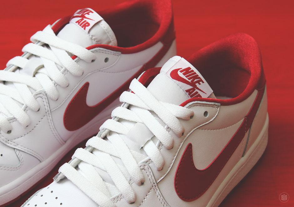 Air Jordan 1 Retro Rojo Blanco Bajo Og JtQQk