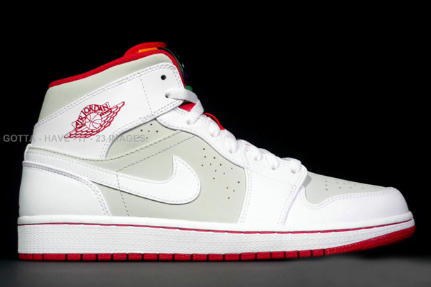 """cd3816e6d Air Jordan 1 Mid """"Hare"""" Color  White True Red-Light Silver-Black Style  Code  719551-123. Release Date  04 04 15. Price   125"""