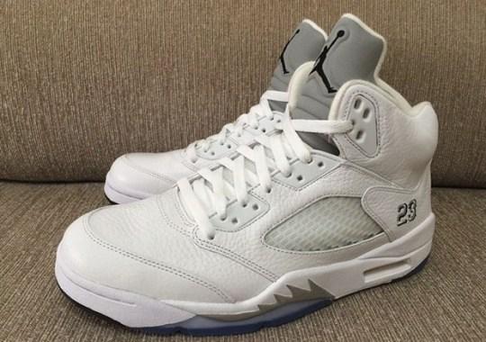 new product bb11c 1aed2 Air Jordan 5 White Metallic - SneakerNews.com
