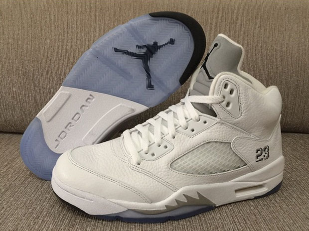 air jordan 5 white metallic price