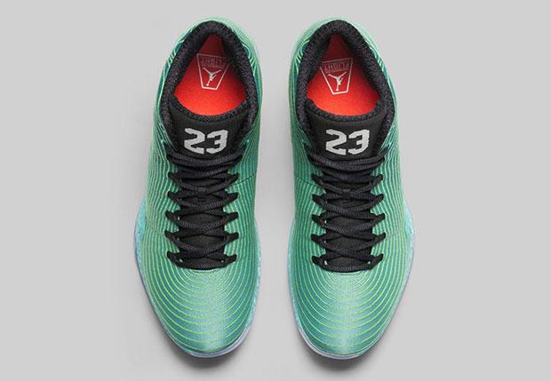 the air jordan 29 green sparkles
