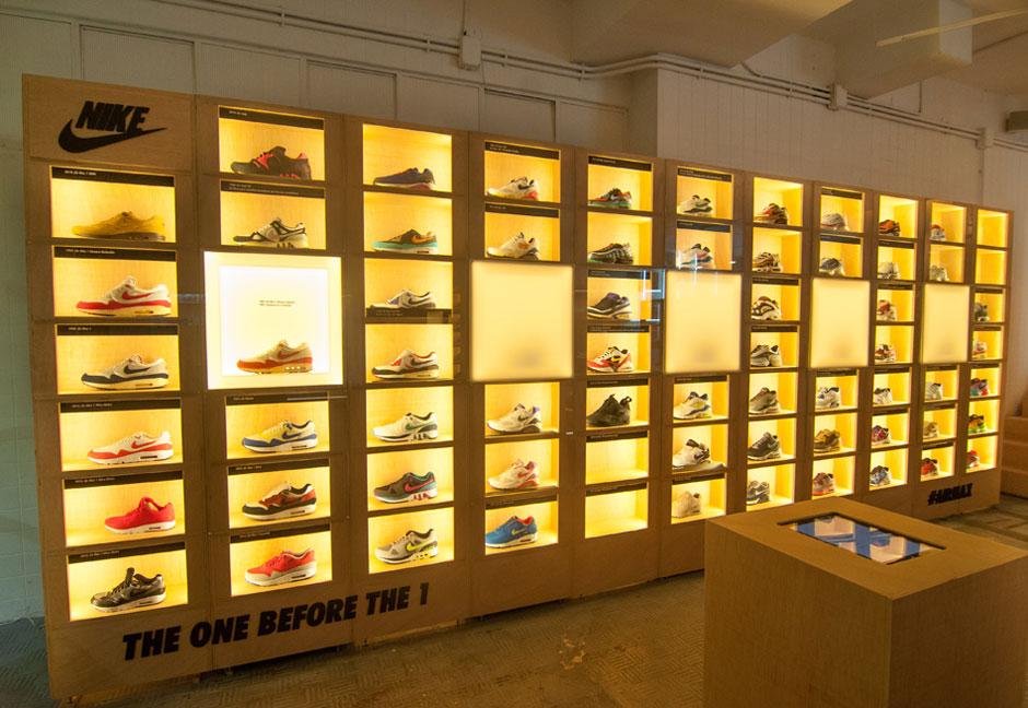 Jordan Shoes Display On Wall