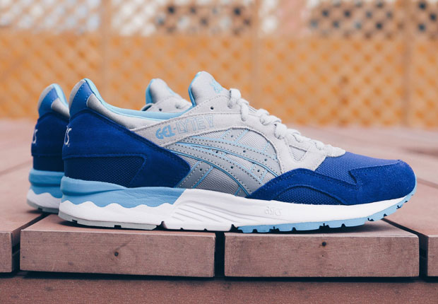 085bf6431eb2 Asics Gel Lyte V - Royal Blue - Grey - Teal - SneakerNews.com