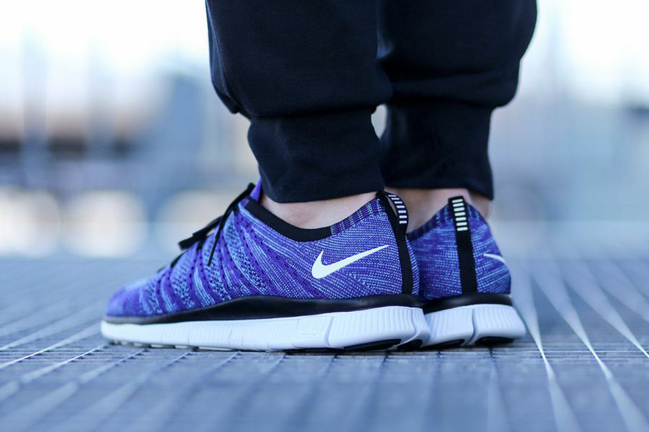 differently 6dfc0 ba235 Nike Free Flyknit NSW Color  Court Purple White-Polarized Blue-Black Style  Code  599459-500