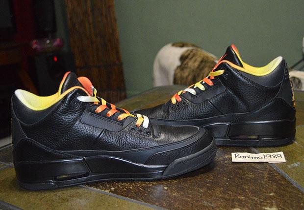 87bb61aa16da5d A Rare Look at the quotDrake vs Lil Waynequot Air Jordan 3 PE outlet ...